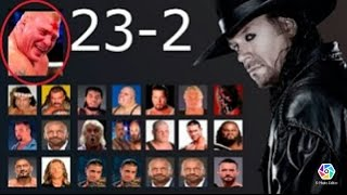 THE UNDERTAKER All  Matches in wrestlemania 23 - 2