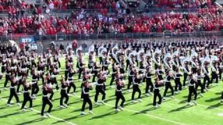 Ohio State University Marching Band Ramp Entry, Script Ohio & Pre-game OSU vs IU. 11 5 2011