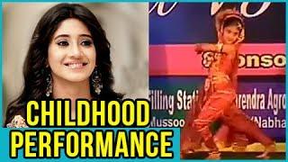 Shivangi Joshi aka Naira's CHILDHOOD Real Life Dance PERFORMANCE | Yeh Rishta Kya Kehlata Hai