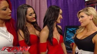 Natalya slaps Brie Bella: Raw, August 5, 2013
