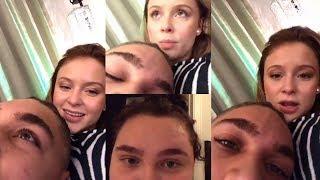 Zara Larsson & Boyfriend   DUAL Instagram Live Stream   30 October 2017
