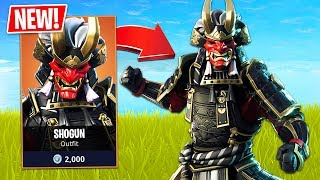 *NEW* Legendary Samurai Shogun Skin! (Fortnite Live Gameplay)
