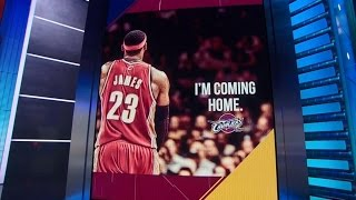 July 11, 2014 - ESPN - LeBron James has Decided not to re-sign with The Miami Heat