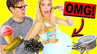 TRYING WEIRD PREGNANCY FOOD COMBINATION CRAVINGS!! (EATING FUNKY & GROSS DIY FOODS)
