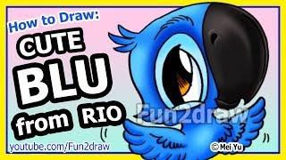 Rio Movie Blu - How to Draw Cartoons - Fun2draw animals