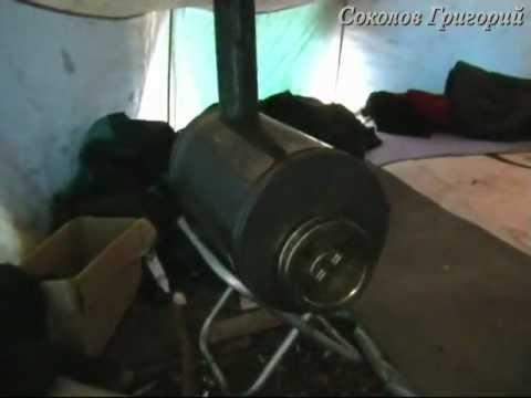 Печки для палаток своими руками видео