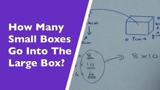 How Many Small Boxes Fit Inside The Large Box (Functional Maths Problems)