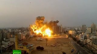 Video: Huge blasts in Gaza City as Israel targets Hamas compound