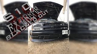 Chevy s10 xtreme blacked out front