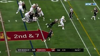 Top Plays: Rodney Smith vs. New Mexico State | Minnesota |  Big Ten Football
