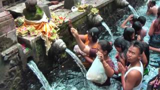 Pura Tirta Empul is a Hindu temple in the middle of Bali and famous for its holy water (Indonesia)