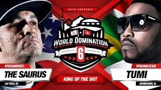KOTD - Rap Battle - The Saurus vs Tumi | #WD6ix