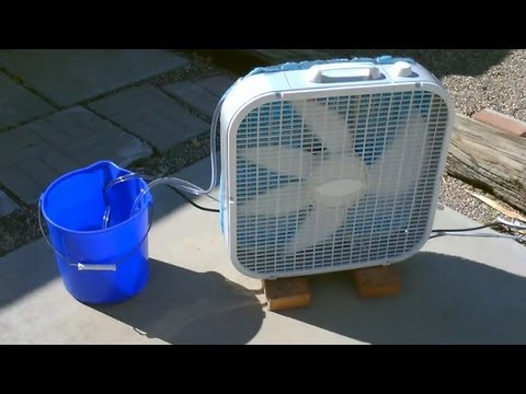 Homemade Evaporative Air Cooler Simple Box Fan Conversion EASY Instructions