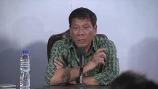 Press Conference of President-electRodrigo Duterte 5/31/2016