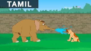 Elephant And The Dog - Jataka Tales In Tamil - Animation / Cartoon Stories For Kids