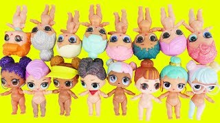 LOL Surprise Dolls Dress Up Outfits Mix + Match Wave 2 Mystery Bedtime Routine Fake Toy School DIY!