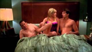 Two and a Half Men - The Threesome (Walden, Alan & Lyndsay) [HD]