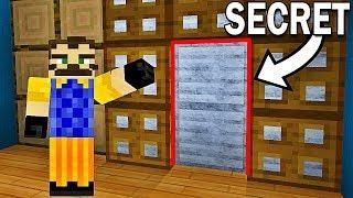 PERSONNE NE PEUT VOIR LE PASSAGE SECRET DE MON VOISIN !   Hello Neighbor Minecraft