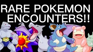 10 RARE WILD POKEMON ENCOUNTERS! AERODACTYL NIDOQUEEN SLOWBRO ONIX JYNZ +MORE #PokemonGo