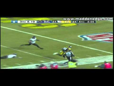Big Ben Roethlisberger Beast Mode 3rd and 19 Clutch Conversion 2011 AFC Playoffs Vs Ravens