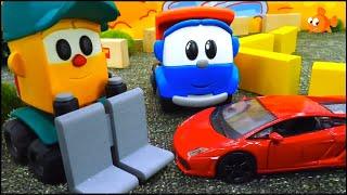 Leo the Truck Cartoons for Kids - MAKE RACING CARS!