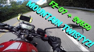 Mountain Twistyz with Suzuki SV650 and Yamaha FZ-07