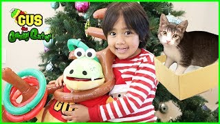I visit Ryan ToysReview for Christmas and play with Ryan