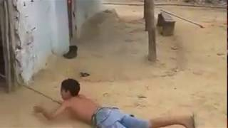 Bangla funny vedio . A strong boy with his Dog