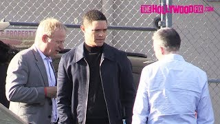 Trevor Noah Says Goodbye To His Friends While Leaving Jimmy Kimmel Live! Studios 5.16.19