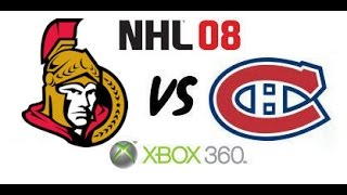 NHL 08 - Ottawa Senators vs Montreal Canadiens - Eastern Conference Finals Game 7