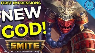 SMITE: NEW GOD HACHIMAN ARRIVES! Dope Japanese Hunter! First Impressions - PTS!