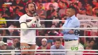 CM Punk Drops A Pipe Bomb On Michael Cole On Raw 2011