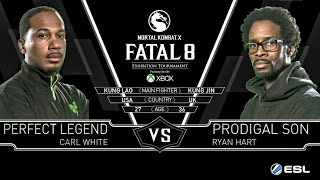 Mortal Kombat X Fatal 8 Prodigal Son (Kung Jin)  Vs Perfect Legend (Kung Lao) MKX
