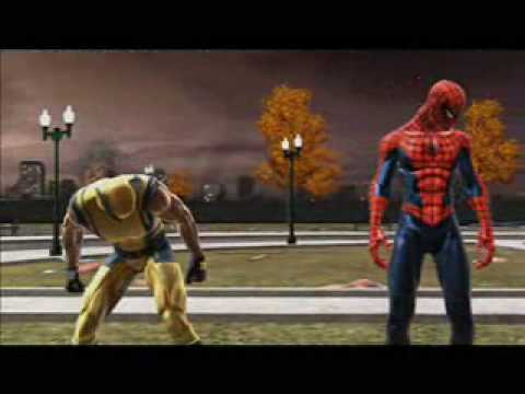 Spiderman Web of Shadows PC Symbiote Wolverine Fight Red Suit Ending