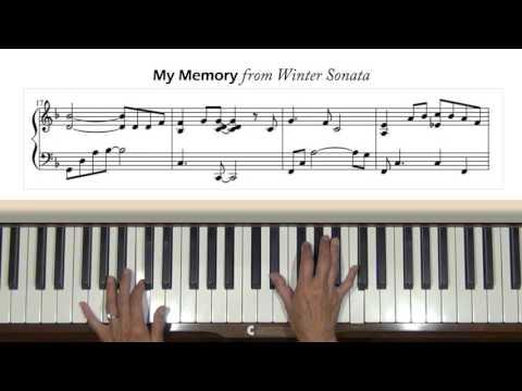 My Memory from Winter Sonata Piano Tutorial