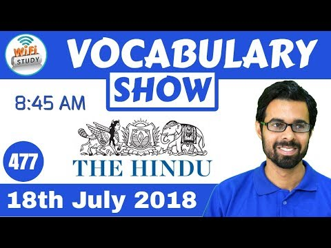 Xxx Mp4 8 45 AM Daily The Hindu Vocabulary With Tricks 18th July 2018 Day 477 3gp Sex