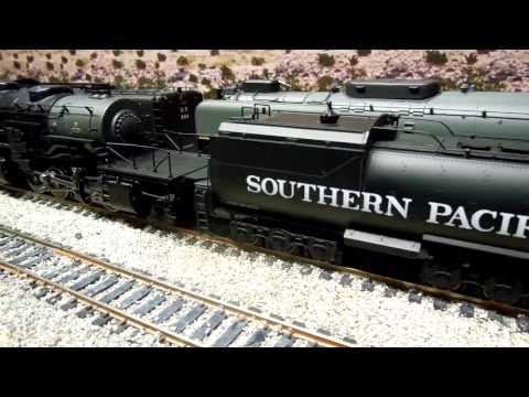 Southern Pacific Cab Forward 4294 AC12 and 4106 AC4/5 (4-8-8-2) consist - HO Motion and Sound