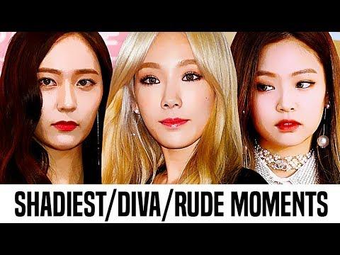 Kpop Female Idols Shadiest Diva Rude Moments Part 1