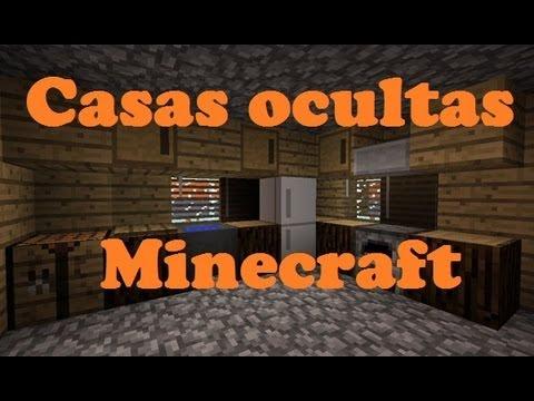 Como hacer casas ocultas en minecraft
