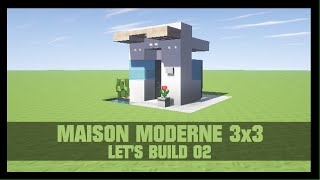 Minecraft construction d\'une maison moderne FR ep 2 L\'extérieur ...