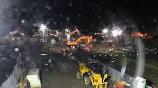 Rogiet Bridge Replacement Time-Lapse