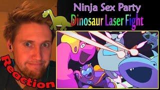 Ninja Sex Party - Dinosaur Laser Fight REACTION! | DINO VADER! | (60fps)