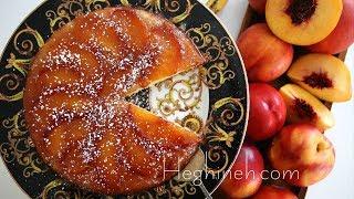 Դեղձով Գլխիվայր Տորթ - Upside Down Peach Cake - Heghineh Cooking Show