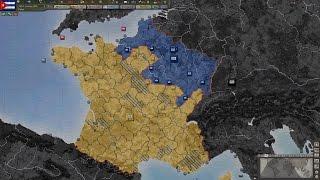 Macron vs Le Pen - French Civil War Timelapse
