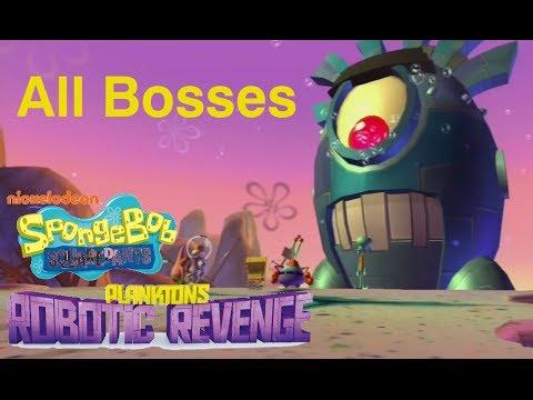 SpongeBob SquarePants Plankton s Robotic Revenge All Bosses ᴴᴰ