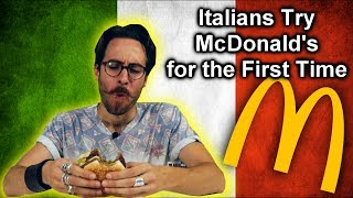 ITALIANS TRY McDonald's for the FIRST TIME