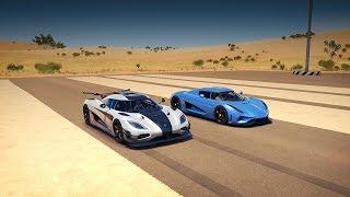 Koenigsegg REGERA vs. Koenigsegg ONE:1 Drag Race | Forza Horizon 3