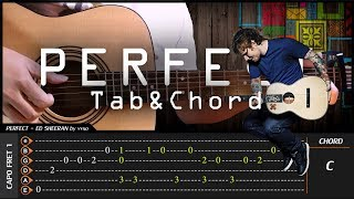 Ed Sheeran - PERFECT - Cover (Fingerstyle Cover) + TAB Tutorial (Lesson)
