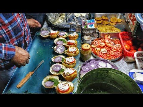 Xxx Mp4 DESI BURGER IN DELHI BUN FRIED BURGER INDIAN STREET FOOD 3gp Sex