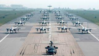 MASSIVE US Air Force Aircraft Elephant Walk At Kadena Air Base, Japan